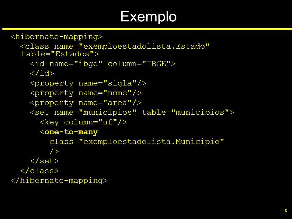 Exemplo <hibernate-mapping>