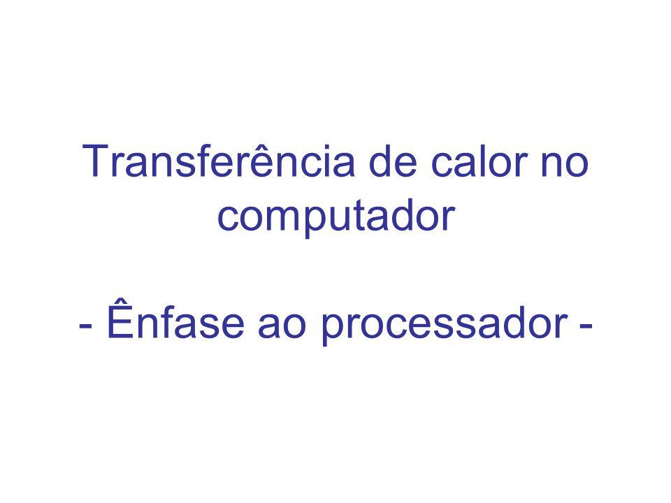 Transferência de calor no computador - Ênfase ao processador -