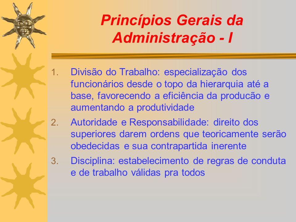 Princípios Gerais da Administração - I