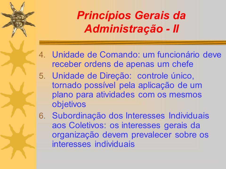 Princípios Gerais da Administração - II