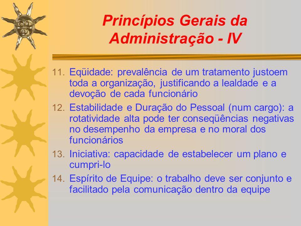 Princípios Gerais da Administração - IV