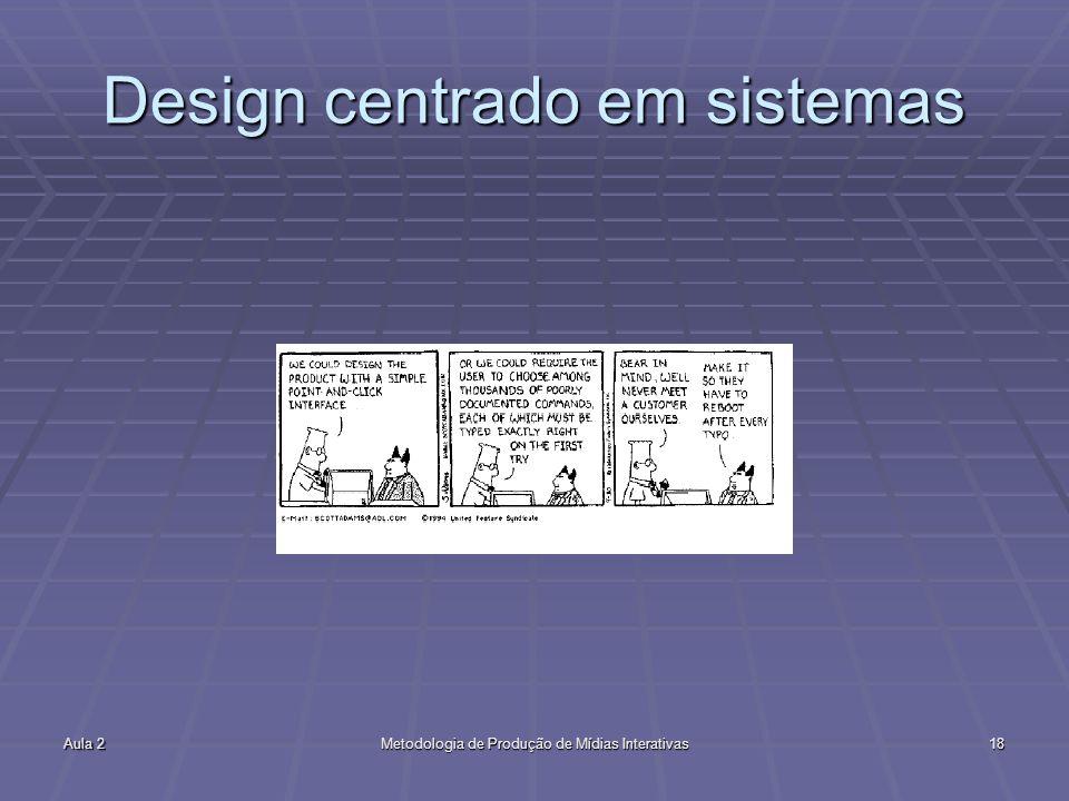 Design centrado em sistemas