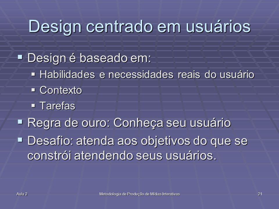 Design centrado em usuários