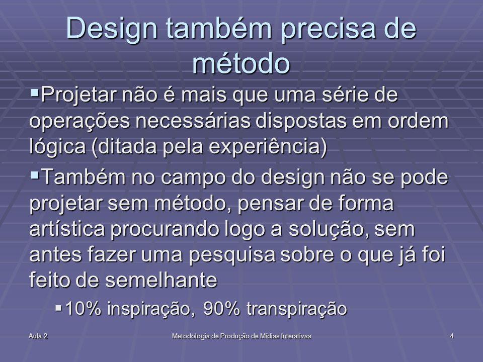 Design também precisa de método