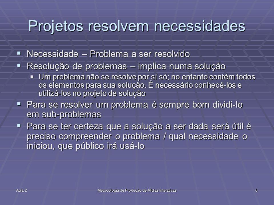 Projetos resolvem necessidades