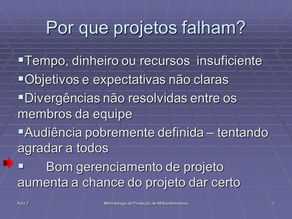 Por que projetos falham