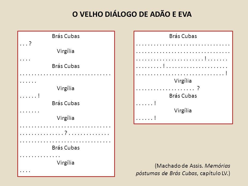 O VELHO DIÁLOGO DE ADÃO E EVA