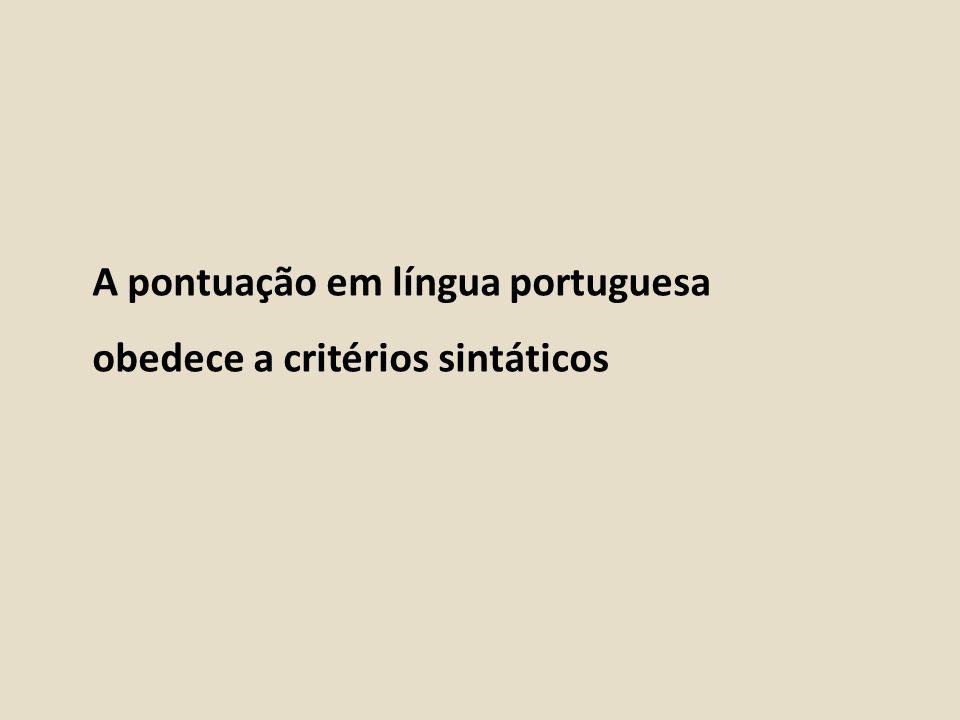 A pontuação em língua portuguesa
