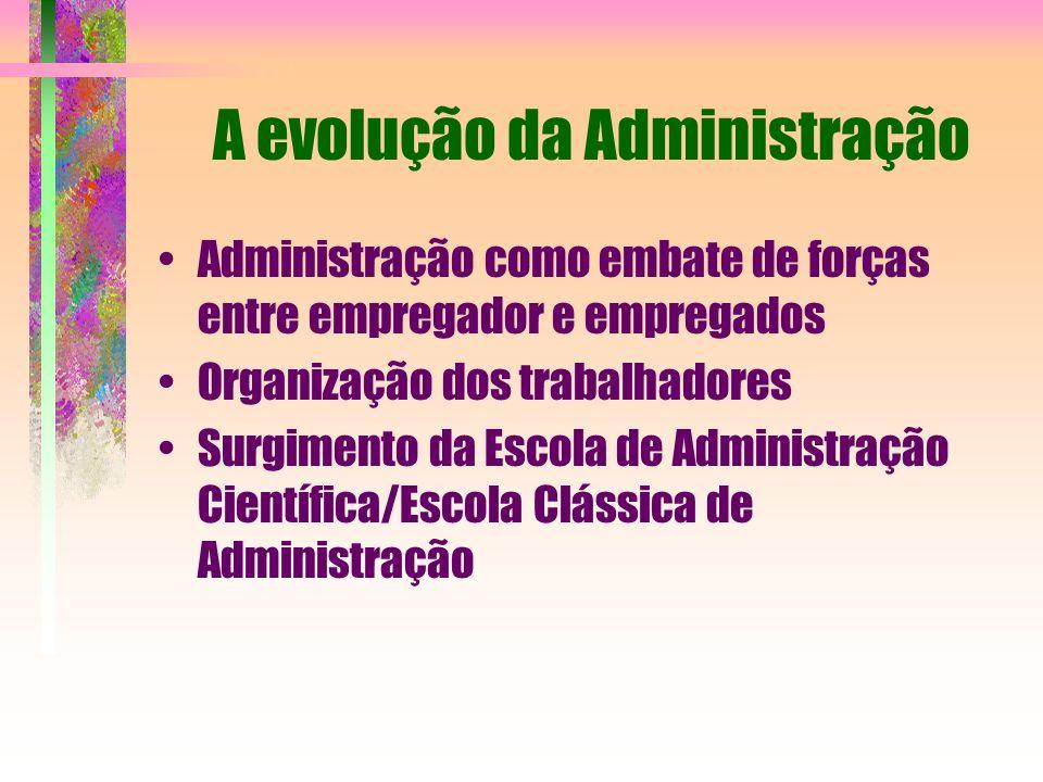 A evolução da Administração