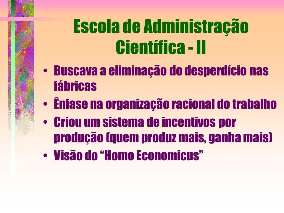 Escola de Administração Científica - II