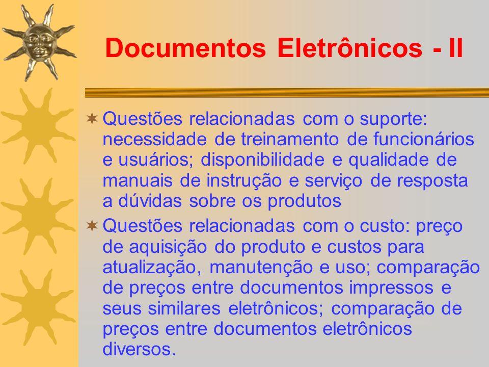 Documentos Eletrônicos - II