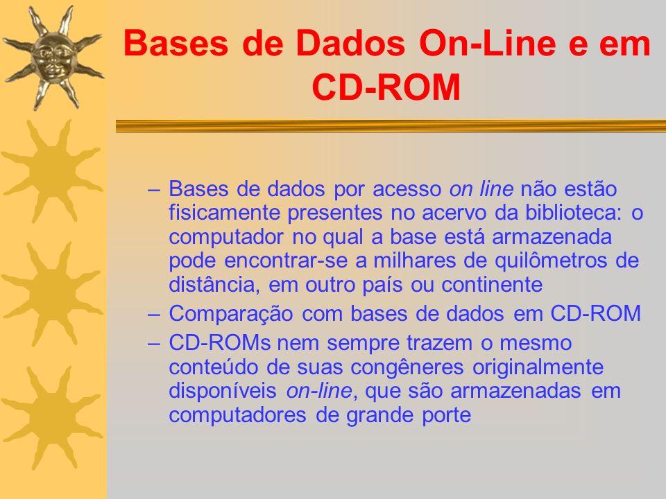 Bases de Dados On-Line e em CD-ROM