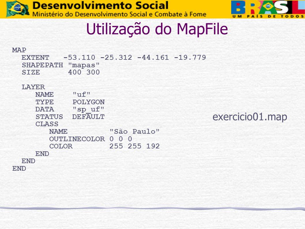 Utilização do MapFile exercicio01.map MAP