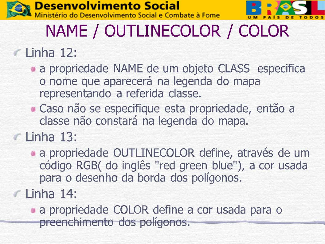 NAME / OUTLINECOLOR / COLOR