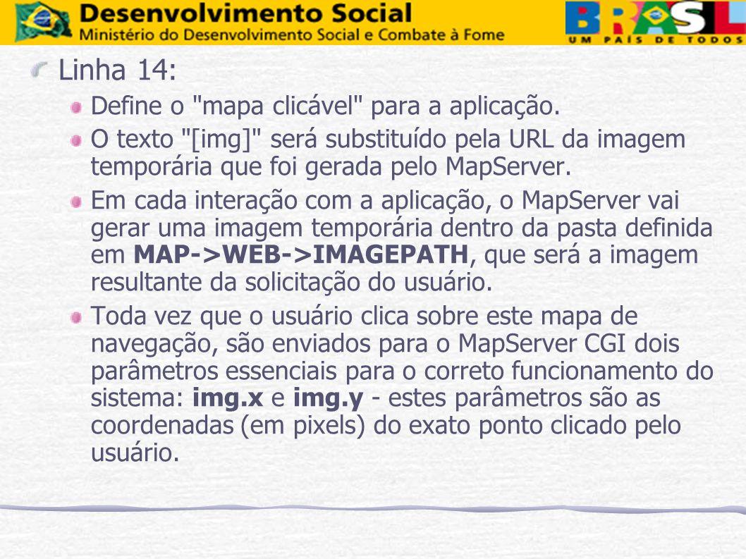 Linha 14: Define o mapa clicável para a aplicação.