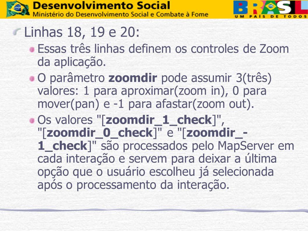 Linhas 18, 19 e 20: Essas três linhas definem os controles de Zoom da aplicação.