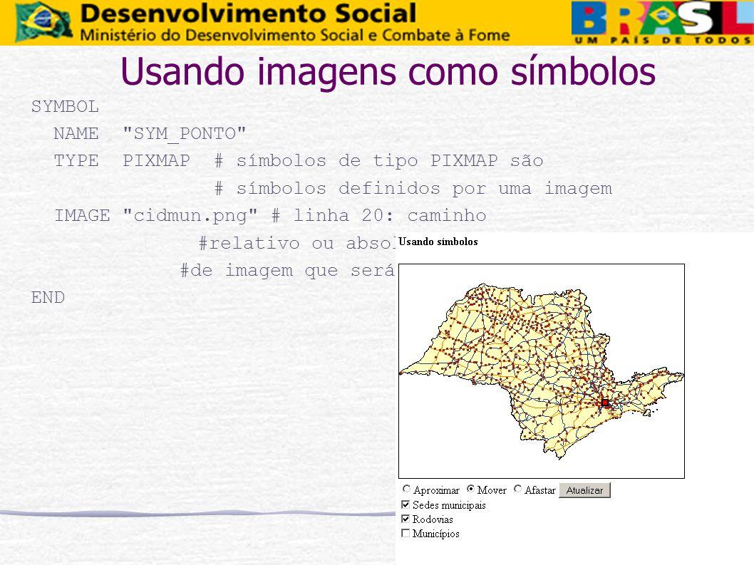 Usando imagens como símbolos