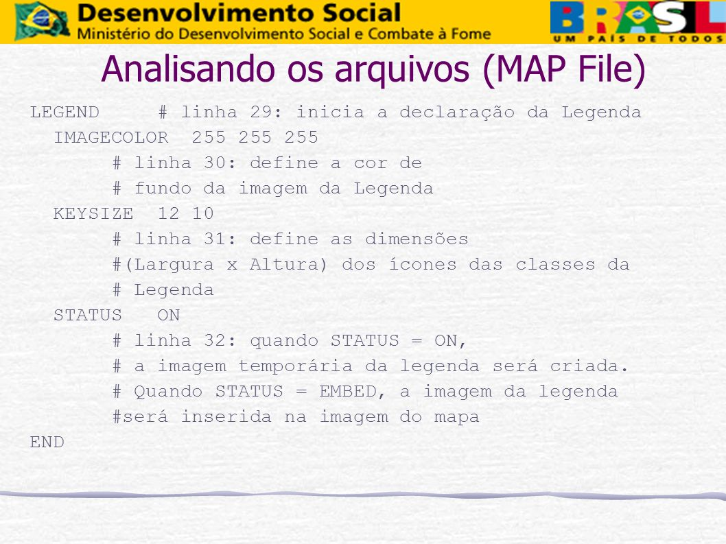 Analisando os arquivos (MAP File)