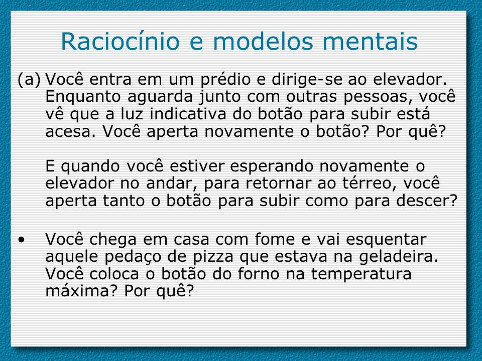 Raciocínio e modelos mentais