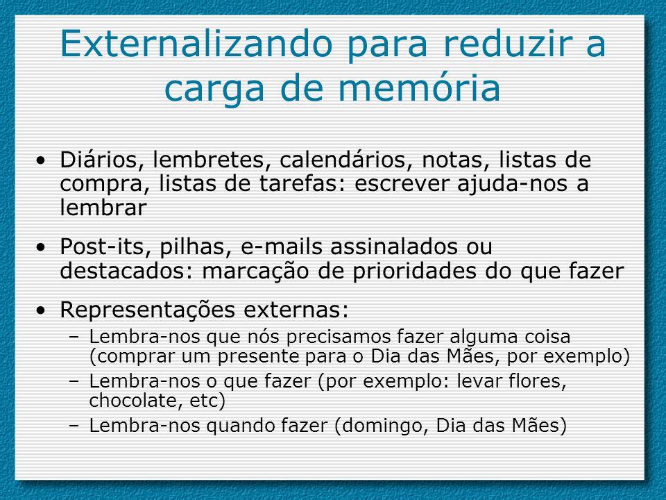Externalizando para reduzir a carga de memória