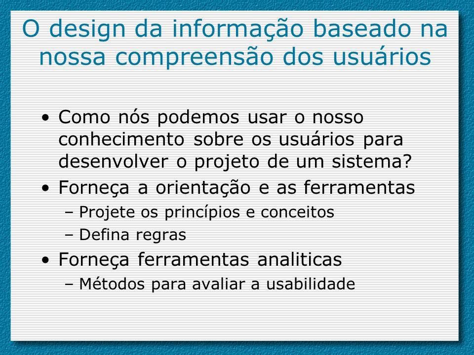 O design da informação baseado na nossa compreensão dos usuários