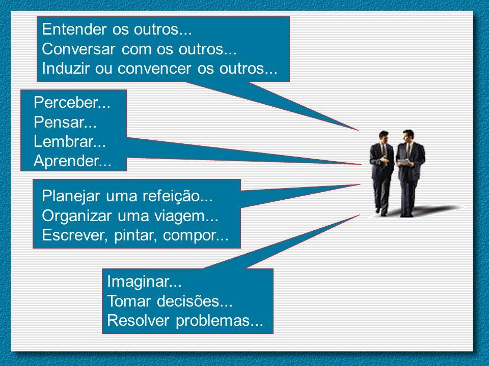 Entender os outros... Conversar com os outros... Induzir ou convencer os outros... Perceber... Pensar...