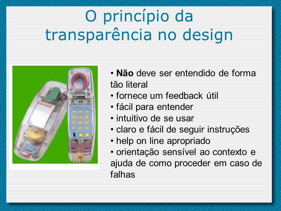 O princípio da transparência no design