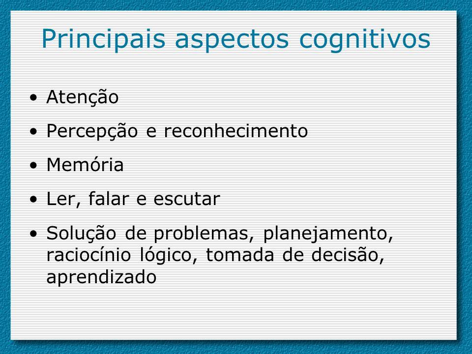 Principais aspectos cognitivos