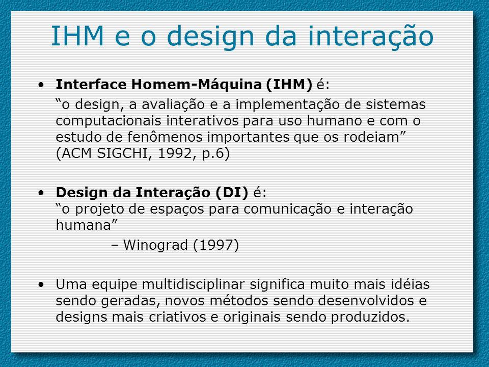 IHM e o design da interação