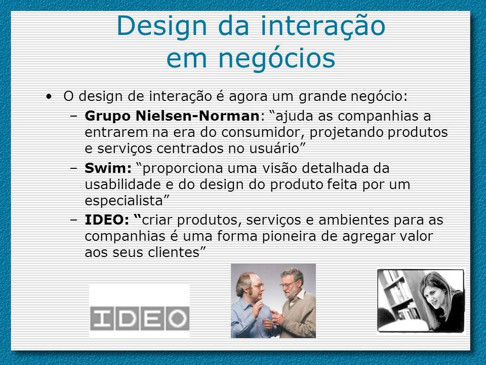 Design da interação em negócios