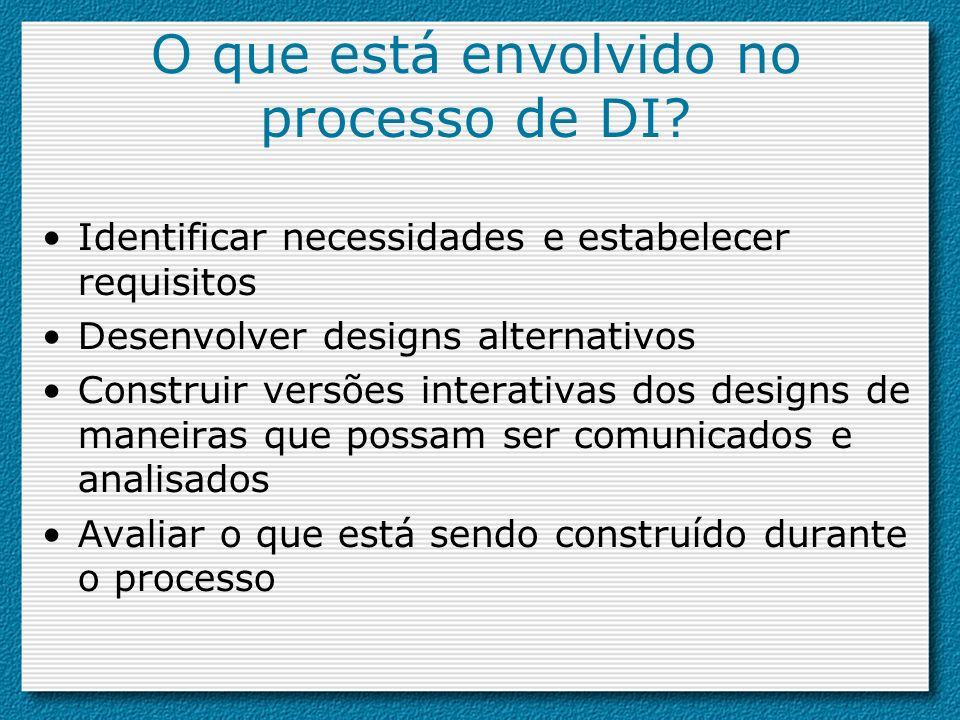 O que está envolvido no processo de DI