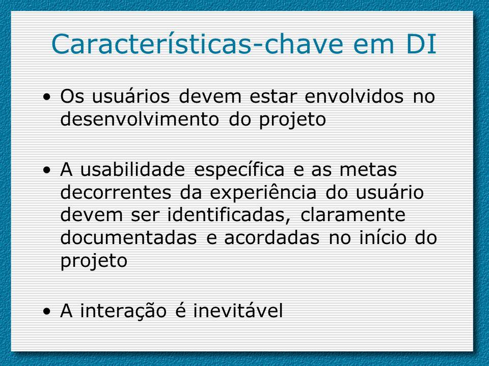 Características-chave em DI
