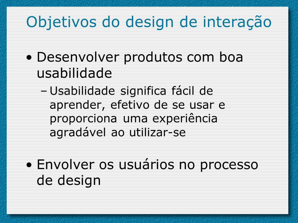 Objetivos do design de interação