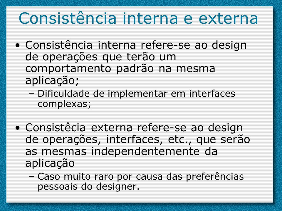 Consistência interna e externa