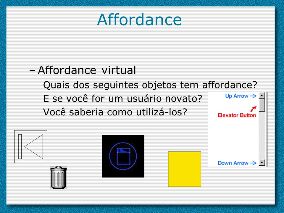 Affordance Affordance virtual