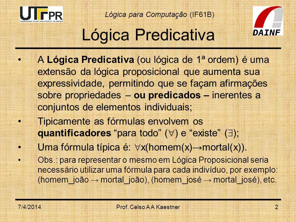 Lógica Predicativa