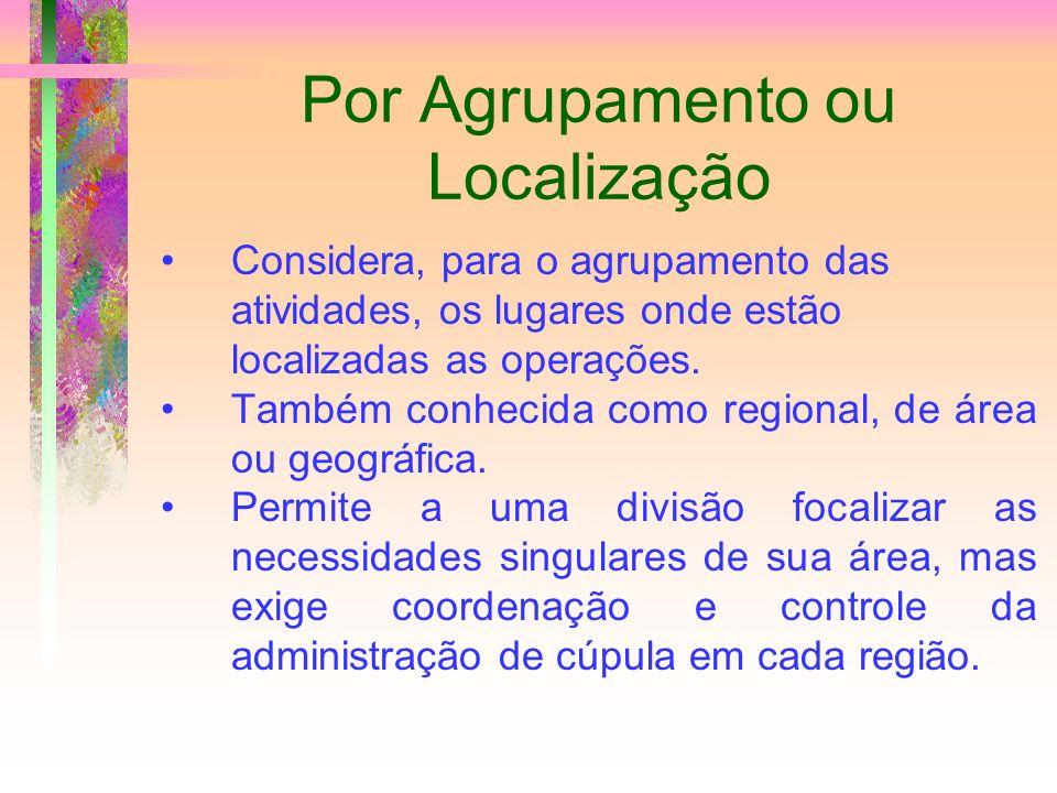 Por Agrupamento ou Localização