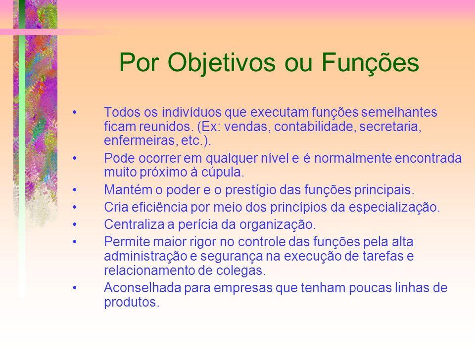 Por Objetivos ou Funções