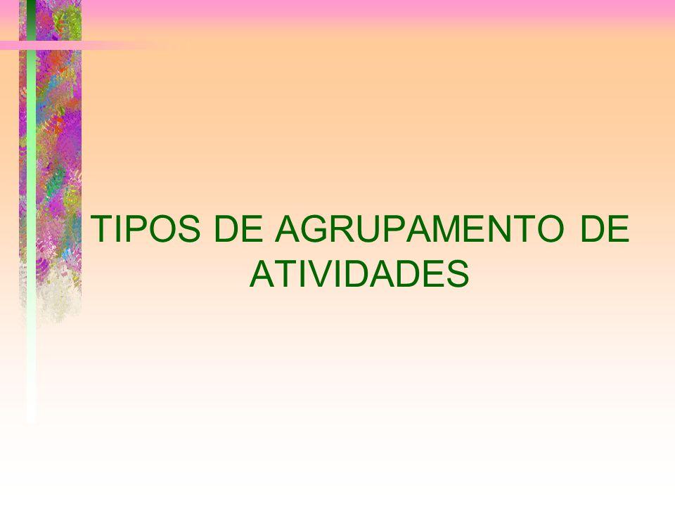 TIPOS DE AGRUPAMENTO DE ATIVIDADES