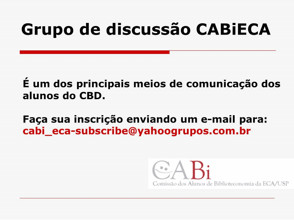 Grupo de discussão CABiECA