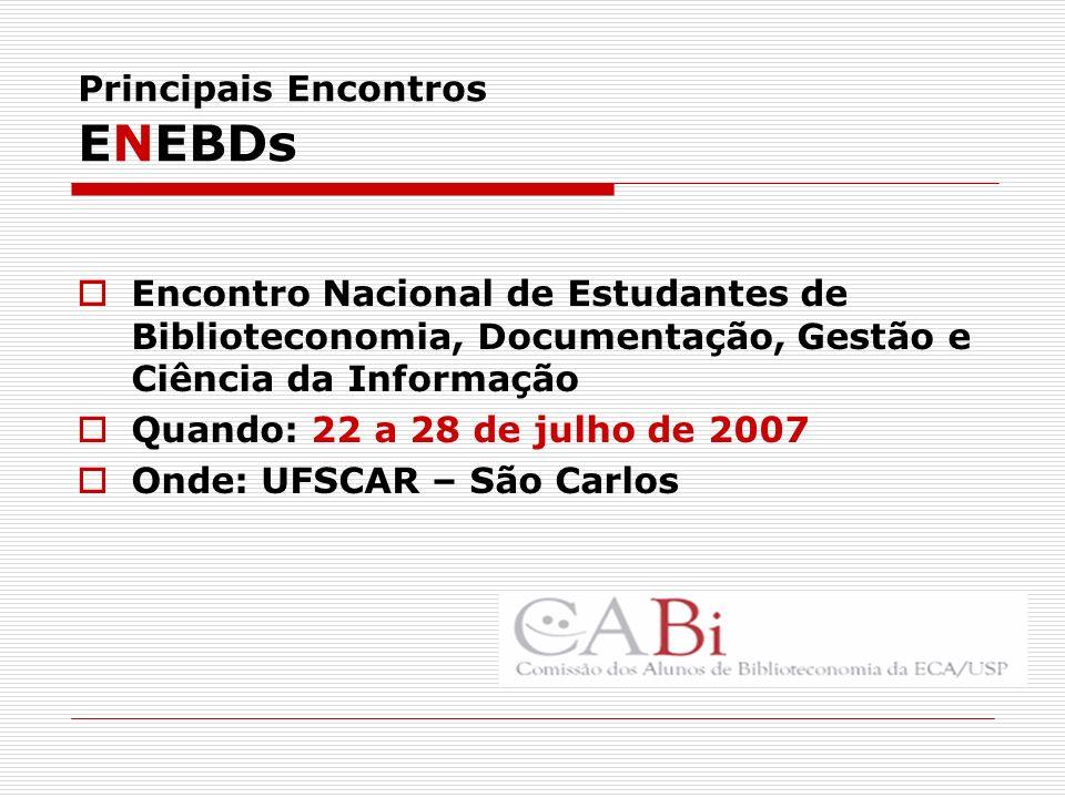 Principais Encontros ENEBDs