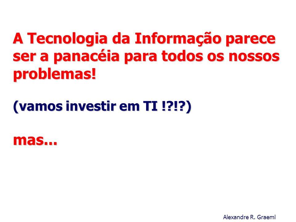A Tecnologia da Informação parece ser a panacéia para todos os nossos problemas! (vamos investir em TI ! ! ) mas...