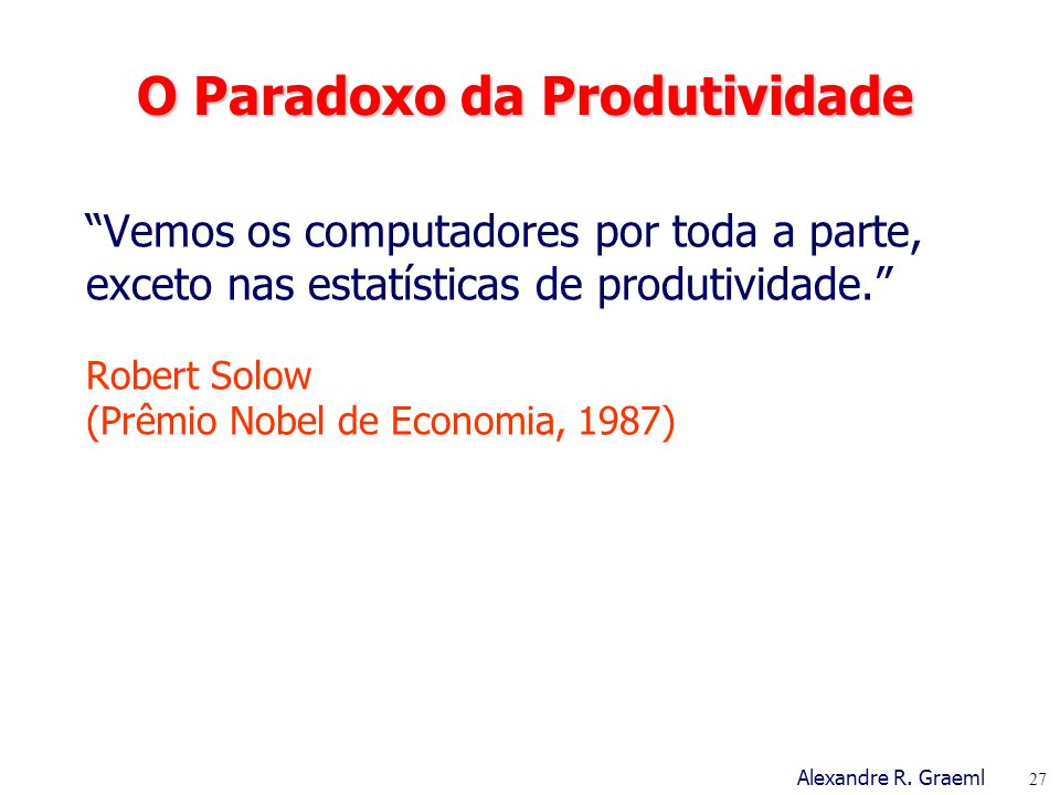 O Paradoxo da Produtividade