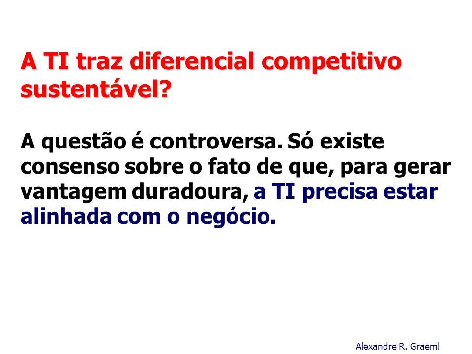 A TI traz diferencial competitivo sustentável. A questão é controversa