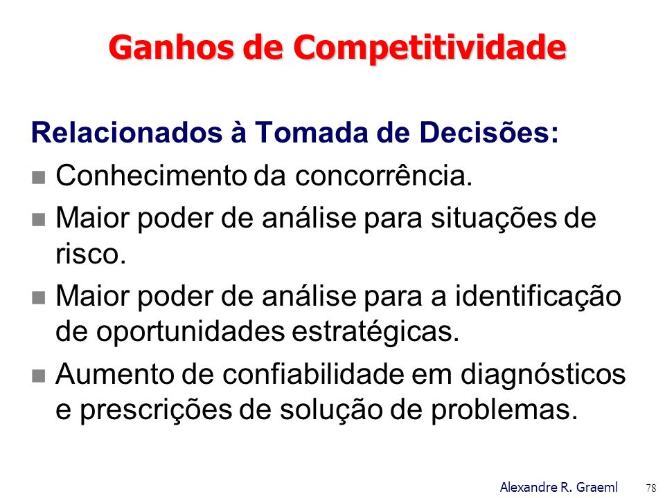 Ganhos de Competitividade