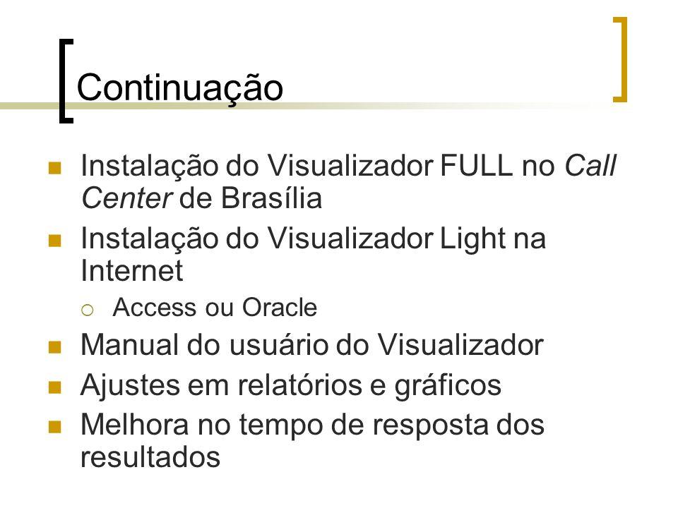 Continuação Instalação do Visualizador FULL no Call Center de Brasília