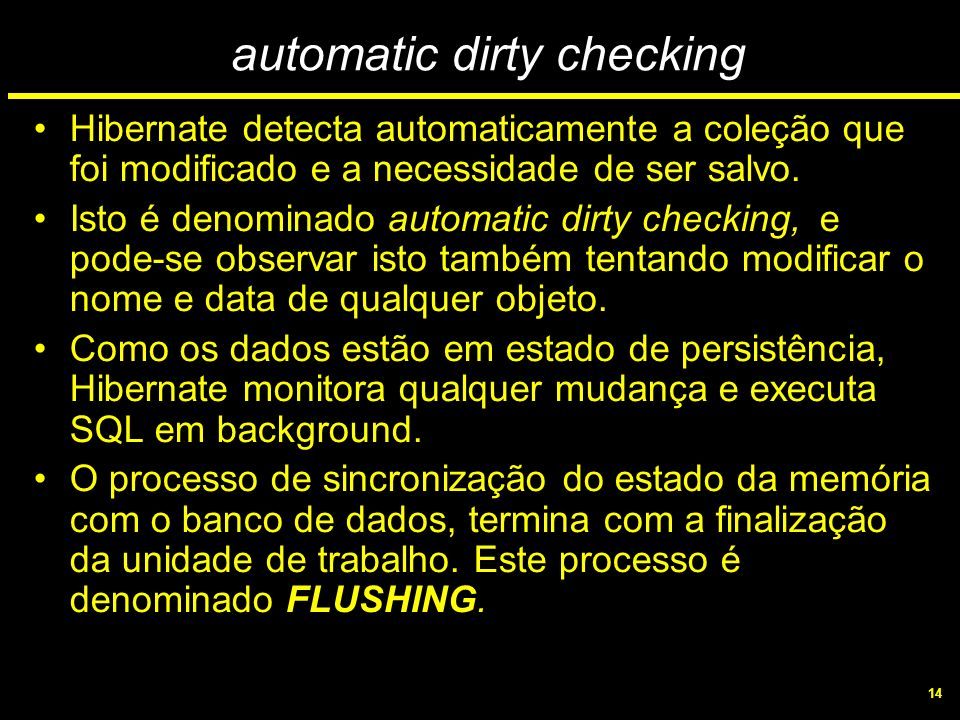 automatic dirty checking