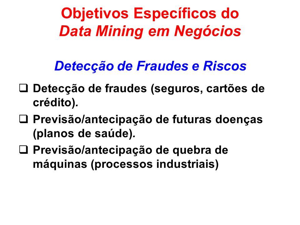 Objetivos Específicos do Data Mining em Negócios Detecção de Fraudes e Riscos