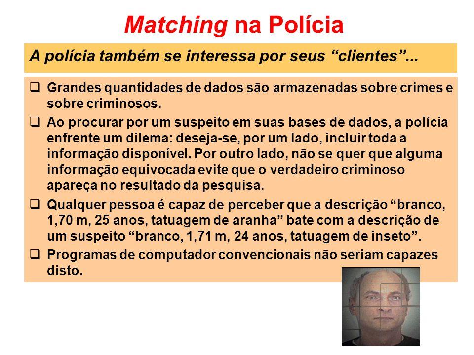 Matching na Polícia A polícia também se interessa por seus clientes ...