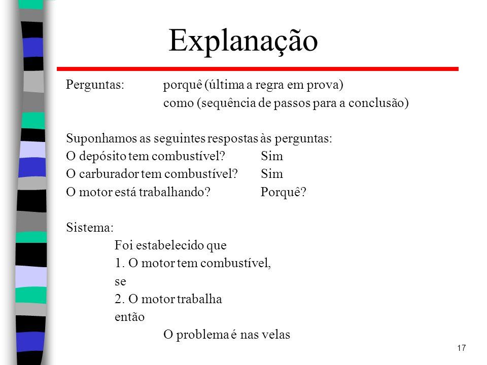 Explanação Perguntas: porquê (última a regra em prova)